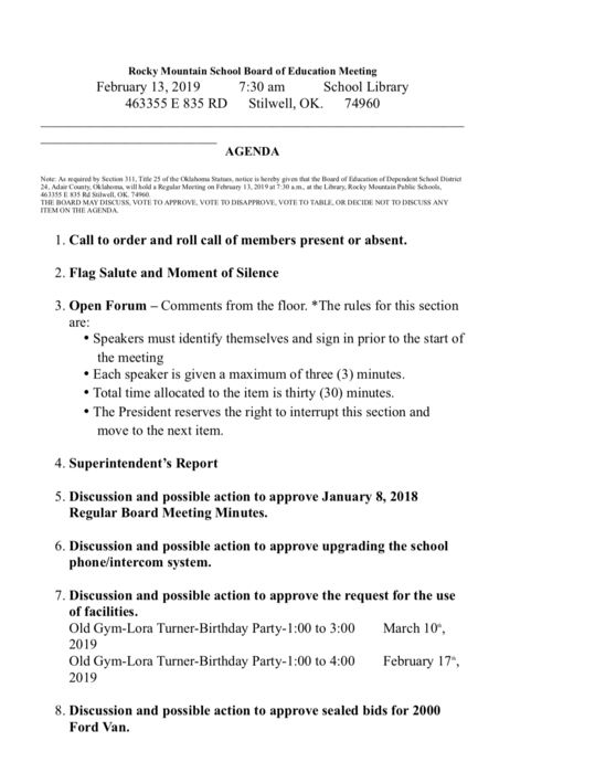 February 2019 Board Meeting Minutes pg1